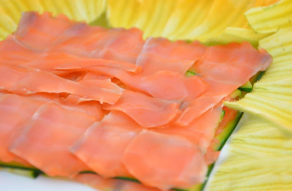 Ricetta con salmone e zucchine